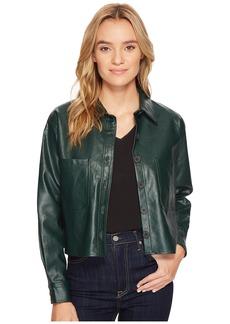 Romeo & Juliet Couture PU Button Up Shirt Jacket
