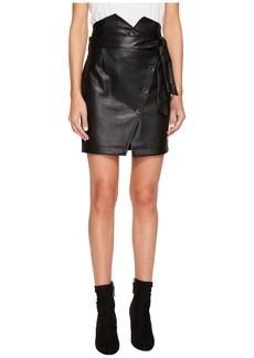 Romeo & Juliet Couture PU Skirt w/ Belt Detail