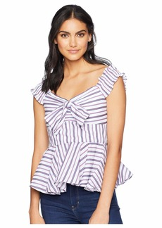 Romeo & Juliet Couture Ribbon Front Stripe Top