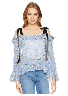 Romeo & Juliet Couture Ribbon Shoulder Ruffle Top