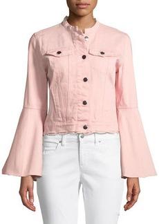 Romeo & Juliet Couture Bell-Sleeve Denim Jacket