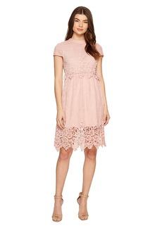 ROMEO & JULIET COUTURE Cap Sleeve Open Back Lace Dress