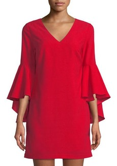 Romeo & Juliet Couture Cascading Bell-Sleeve Shift Dress