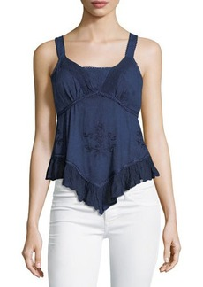Romeo & Juliet Couture Cold-Dyed Embroidered Tank