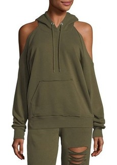 Romeo & Juliet Couture Cold-Shoulder Hooded Sweater