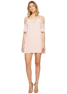 ROMEO & JULIET COUTURE Cold Shoulder Lace Trim Dress