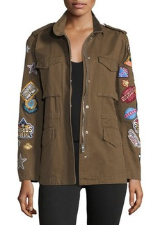 Romeo & Juliet Couture Cotton Patchwork Cargo Jacket