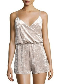 Romeo & Juliet Couture Crushed Velvet Romper