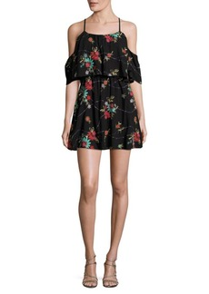 Romeo & Juliet Couture Embroidered Cold-Shoulder Dress
