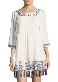 Romeo & Juliet Couture Embroidered Gauze Peasant Dress