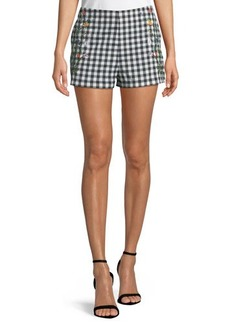 Romeo & Juliet Couture Embroidered Gingham Shorts