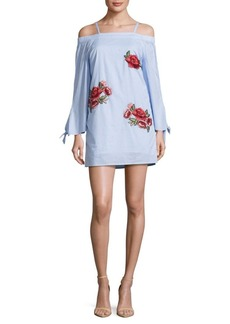 Romeo & Juliet Couture Embroidered Off-The-Shoulder Dress