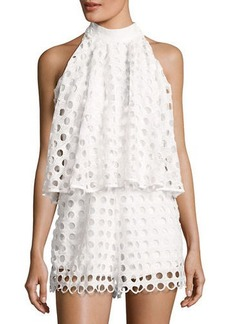 Romeo & Juliet Couture Eyelet Popover Sleeveless Romper
