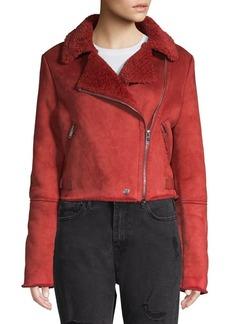Romeo & Juliet Couture Faux Fur-Trimmed Jacket