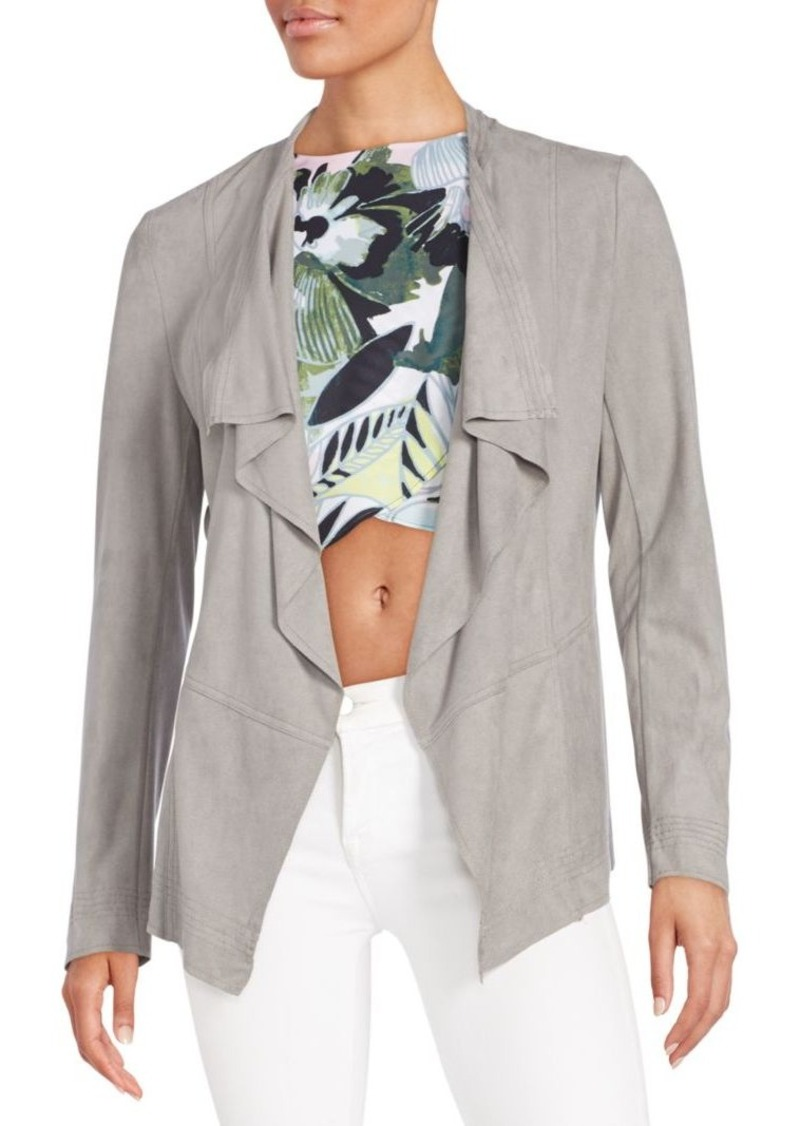 Romeo & Juliet Couture Faux Suede Open-Front Cardigan