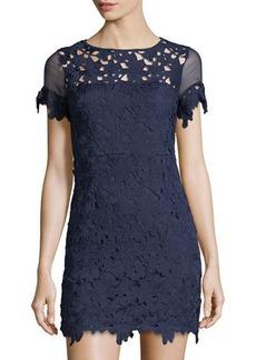 Romeo & Juliet Couture Floral-Lace Short-Sleeve Dress
