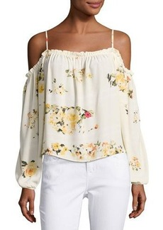 Romeo & Juliet Couture Floral-Print Cold-Shoulder Blouse
