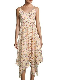 Romeo & Juliet Couture Floral-Print Handkerchief-Hem Dress