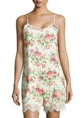 Romeo & Juliet Couture Floral-Print Lace-Trim Short Jumpsuit