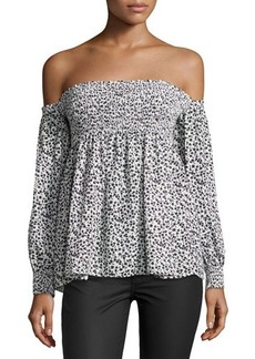 Romeo & Juliet Couture Floral-Print Off-the-Shoulder Top