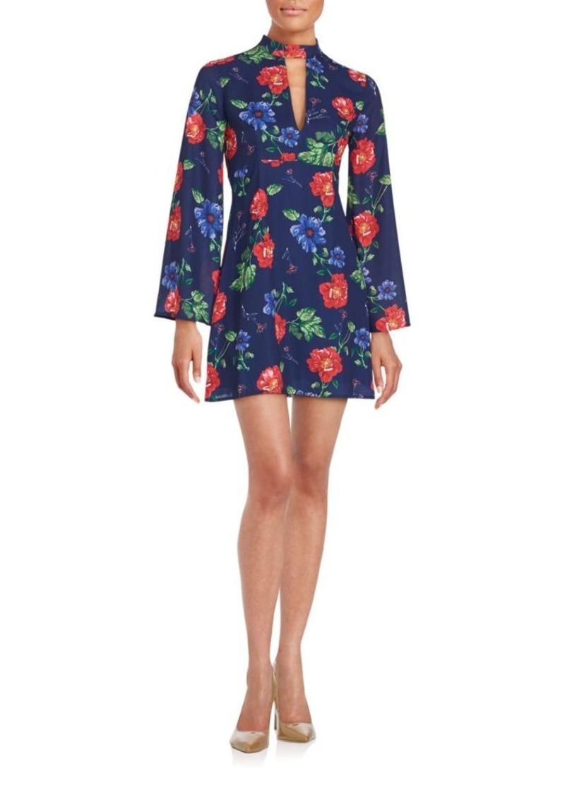 Romeo & Juliet Couture Floral Print Silk Dress