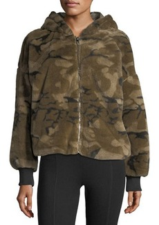 Romeo & Juliet Couture Fuzzy Camo Hoodie