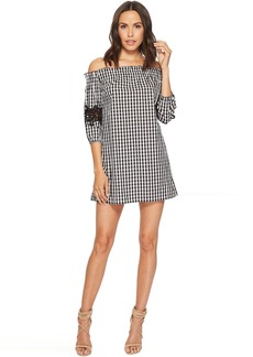 Romeo & Juliet Couture Gingham Off the Shoulder Lace Dress