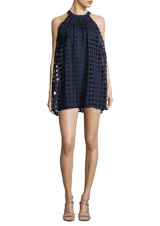 Romeo & Juliet Couture Halterneck Cutout-Lace Trapeze Dress