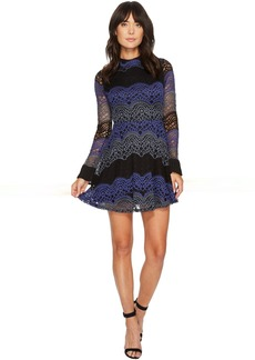 ROMEO & JULIET COUTURE High Neck All Over Lace Dress