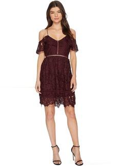 ROMEO & JULIET COUTURE Lace Cold-Shoulder Dress