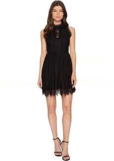 ROMEO & JULIET COUTURE Lace High Neck Dress w/ Sheer Back