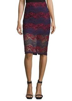 Romeo & Juliet Couture Lace Midi Pencil Skirt