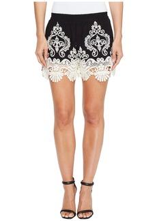 ROMEO & JULIET COUTURE Lace Trim Shorts