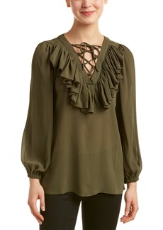 Romeo & Juliet Couture Lace-Up Ruffled Top