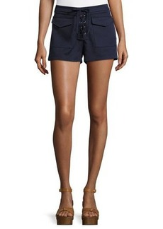 Romeo & Juliet Couture Lace-Up Shorts