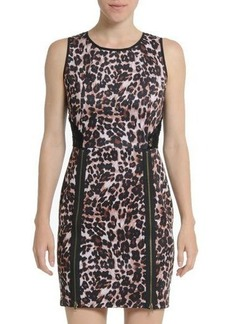 Romeo & Juliet Couture Leopard-Print Lace-Back Dress