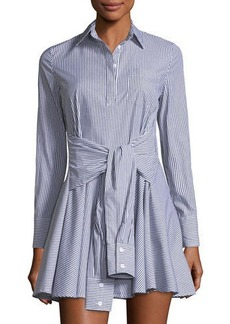 Romeo & Juliet Couture Long-Sleeve Striped Shirtdress