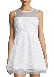 Romeo & Juliet Couture Mesh Sleeveless Fit-&-Flare Dress