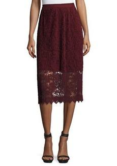 Romeo & Juliet Couture Midi Lace Plisse Skirt
