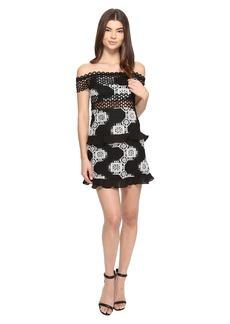 ROMEO & JULIET COUTURE Off Shoulder Two-Tone Lace Dress