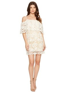 ROMEO & JULIET COUTURE Off the Shoulder Double Layered Lace Dress