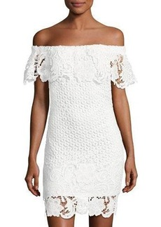 Romeo & Juliet Couture Off-the-Shoulder Lace-Overlay Dress