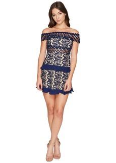 ROMEO & JULIET COUTURE Off the Shoulder Solid Color Lace Dress