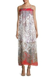 Romeo & Juliet Couture Paisley-Print Chiffon Maxi Dress