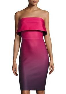 Romeo & Juliet Couture Popover Strapless Ombré Scuba Dress