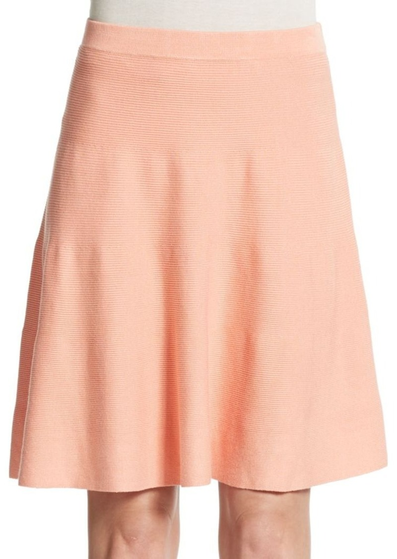 Romeo & Juliet Couture Rib-Knit A-Line Skirt