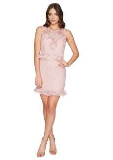 ROMEO & JULIET COUTURE Ruffle Waist Lace Dress