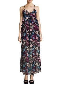 Romeo & Juliet Couture Ruffled Floral-Chiffon Maxi Dress