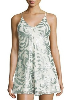 Romeo & Juliet Couture Sequin-Embellished Short Jumpsuit