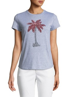 Romeo & Juliet Couture Sequin Palm-Tree Tee